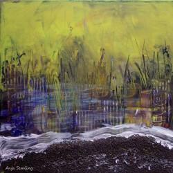 Abstrakt, 30x30cm, Acryl auf Keilrahmen