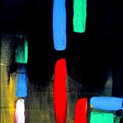 Abstrakt, 30x40cm, Acryl auf Karton. Malerei.