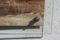 Detail, Big Tusker, 85x110cm, Acryl auf Aludibondplatte an Hauswand