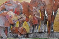 Elefantengruppe, 40x60cm, Acryl auf Keilrahmen
