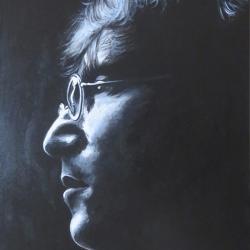 Portait John Lennon. Mit Künstleracyrlfarben auf Keilrahmen, 40x50cm, verkauft.