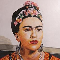 Portrait Frida Kahlo, Acryl auf Leinwand, 40x50cm, verkauft.