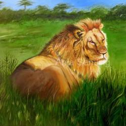 "Löwe ""Cecil"", 50x60cm, Acryl auf Keilrahmen"