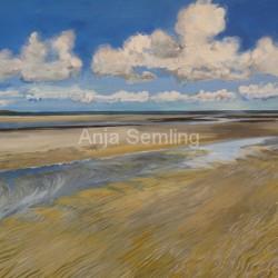 Wattenmeer Amrum, 40x50cm, Acryl auf Keilrahmen