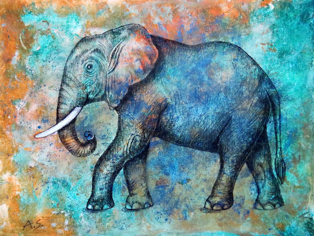 Kunstwerk Elefant