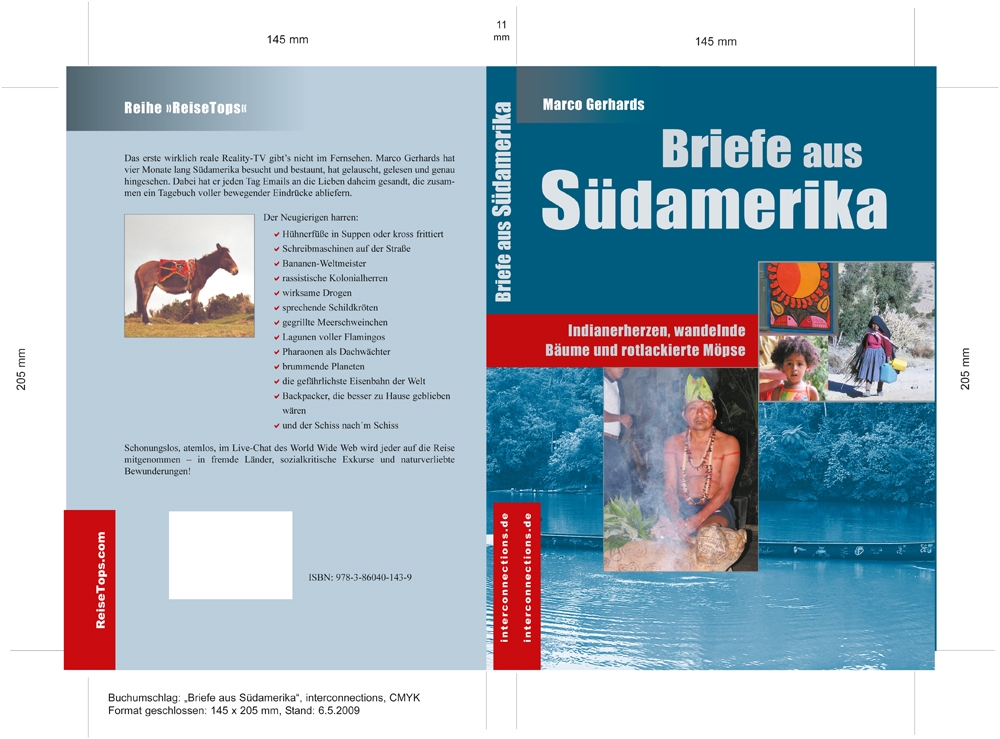 """Buchumschlag """"Briefe aus Südamerika"""""""