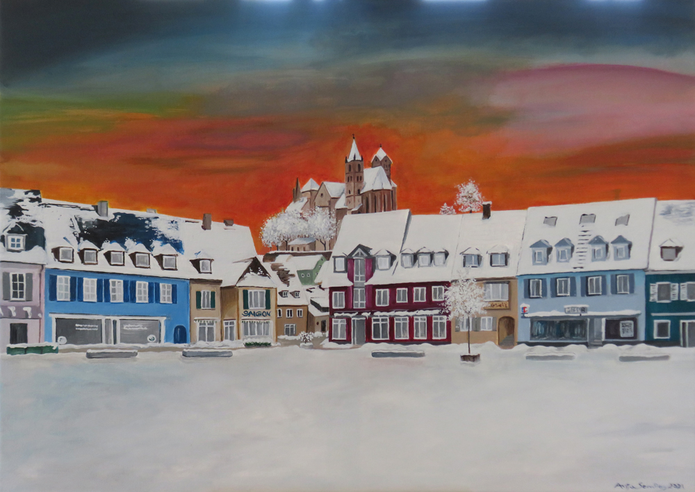 Gemälde Marktplatz 2021 in Breisach