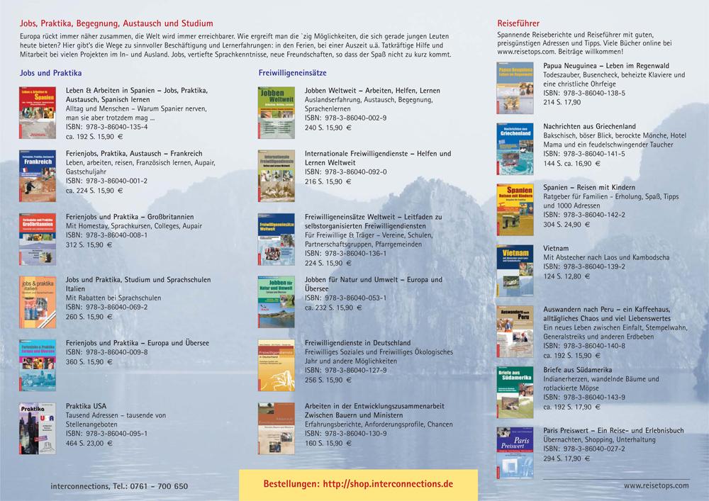 Buchprogramm vom Verlag in Form eines Faltblattes