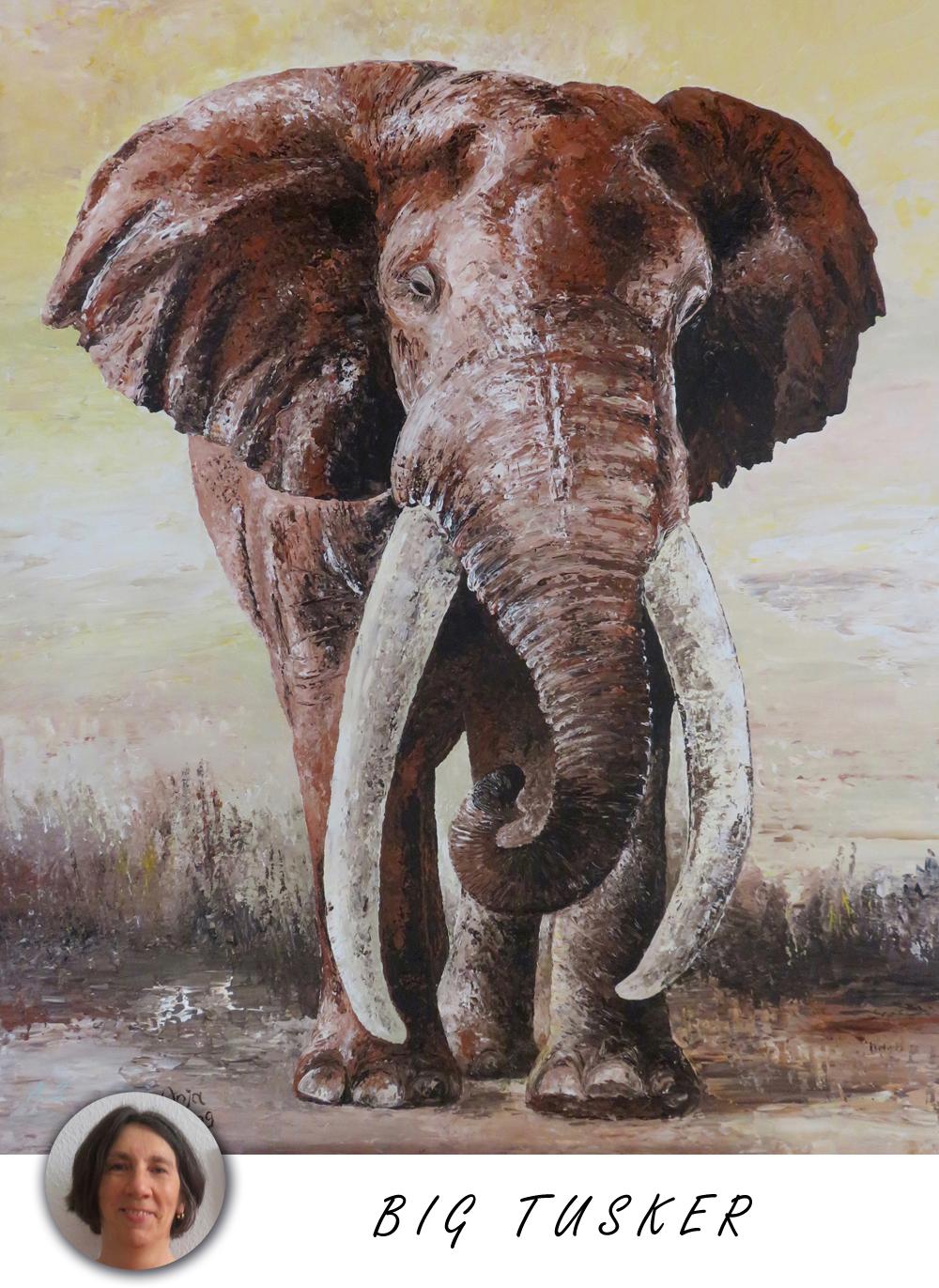 Big Tusker Kunstwerk