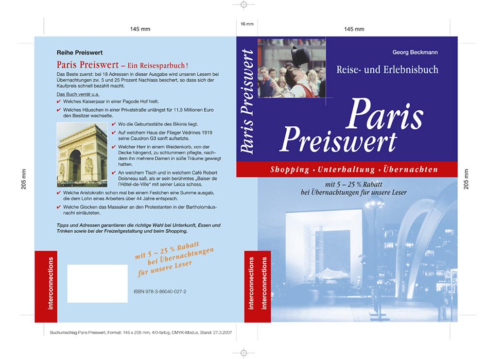 """Buchumschlag """"Paris Preiswert"""""""