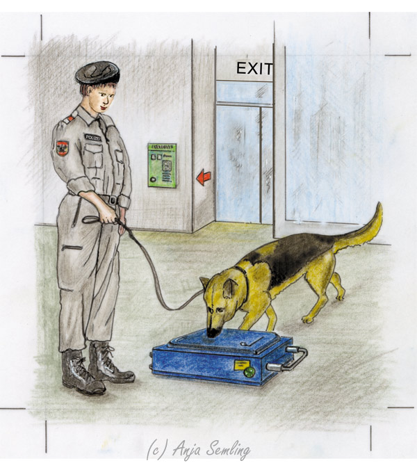 Illustration: Spürhund Zoll