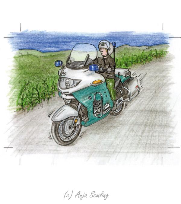Illustration: Polizei-Motorrad
