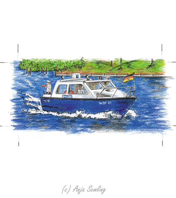 Illustration: Polizeiboot