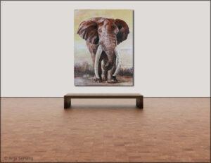 """Bildkunst - Elefanten: """"Big Tusker"""""""