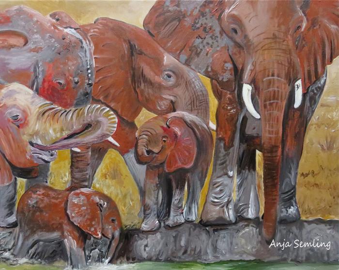 Bildkunst: Elefant , Gemälde
