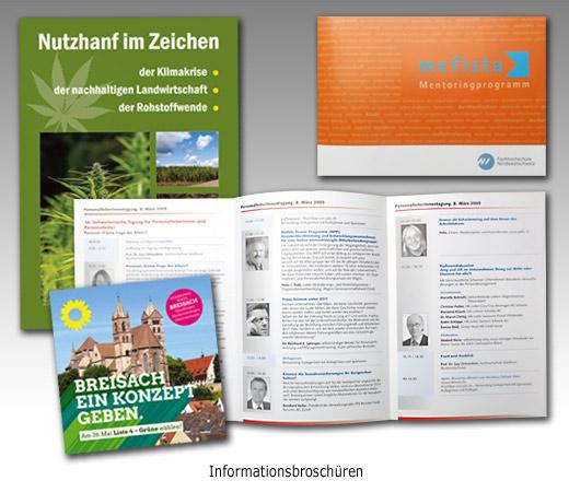 Referenzen: Broschüren Graphikdesign