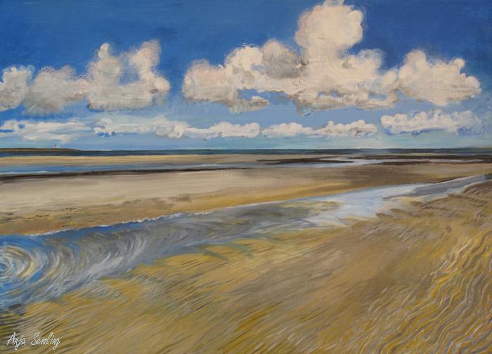 Gemälde Wattenmeer Amrum