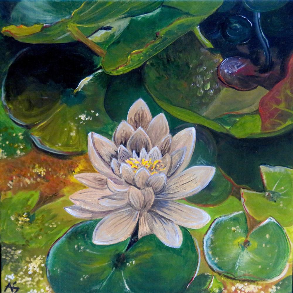 Gemälde Goldene Seerose