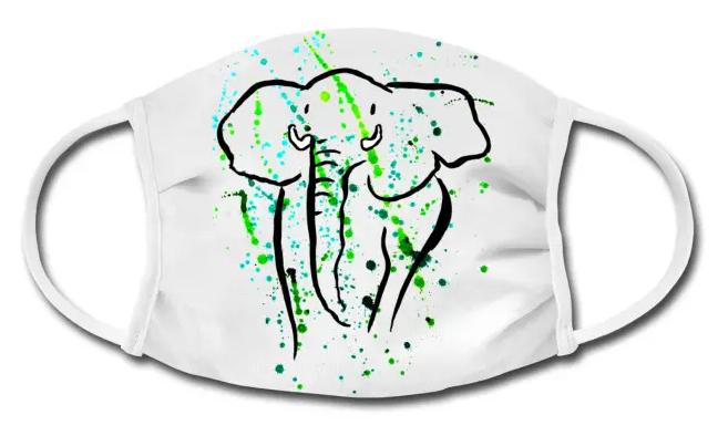 Stoffmaske Elefant