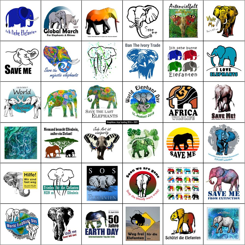 Graphiken Elefantenschutzz