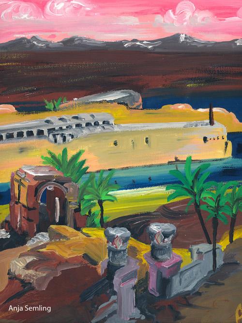 Insel-Philae-Aegypten-Malerei